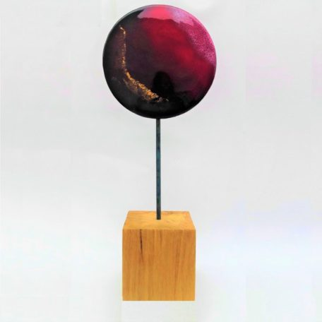 Sculpture Feu émaux d'Art